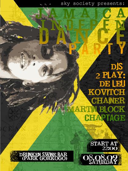 sky society presents jamaica independance party at drunken swine